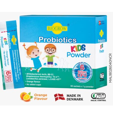 Biogrow Probiotics Kids Powder Sachets 30x1g