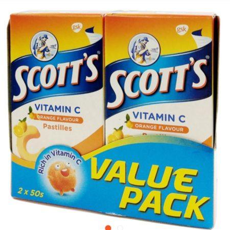 Scotts Vit.c Pastilles Orange 100g 2x50s