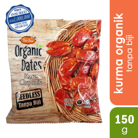 DATE-LICIOUS SEEDLESS ORGANIC DATES 150G