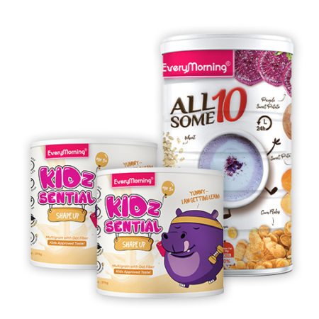 Everymorning Breakfast Package 3 (Allsome10 x1 + Kidzsential Shape Up x 2)