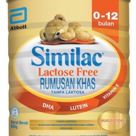 Abbott Similac Gold Lactose Free 0-12 Month 850g