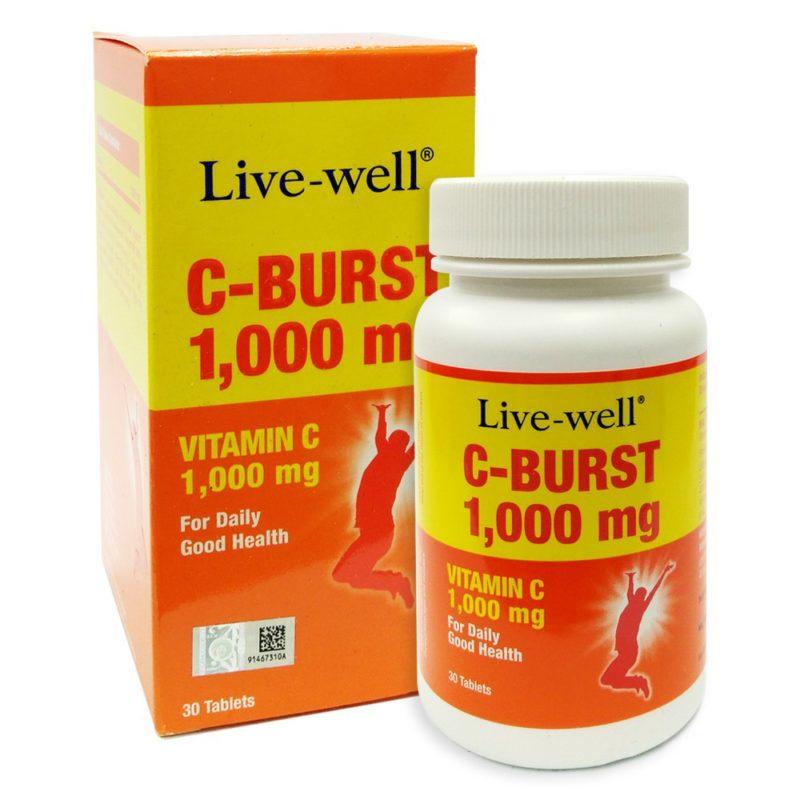LIVE-WELL C BURST 1000MG 30S