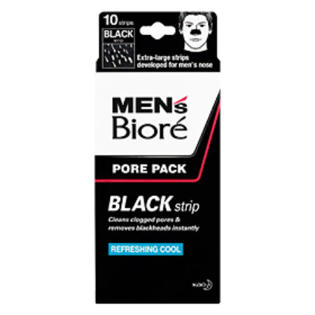 BIORE MEN'S PORE PACK BLACK STRIP 10S