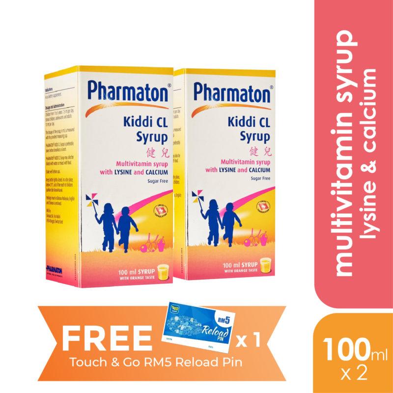 Pharmaton Kiddi Cl Syrup 2x100ml