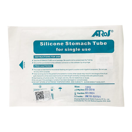 Silicone Ryles Tube (stomach Tube For Single Use) Size 12fr 1s