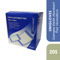 Unigloves Gamgee Sterile Absorbent Pad 10cmx20cm 20s