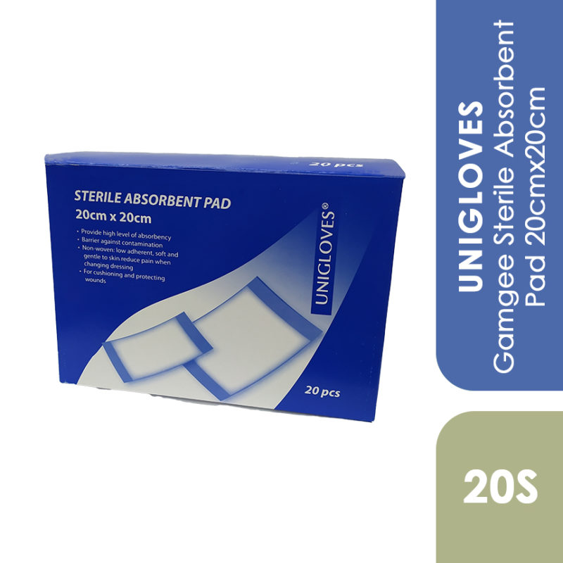 Unigloves Gamgee Sterile Absorbent Pad 20cmx20cm 20s
