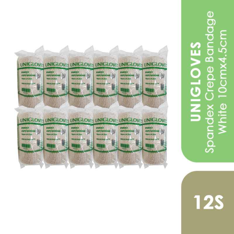 Unigloves Spandex Crepe Bandage White 10cmx4.5cm 12s
