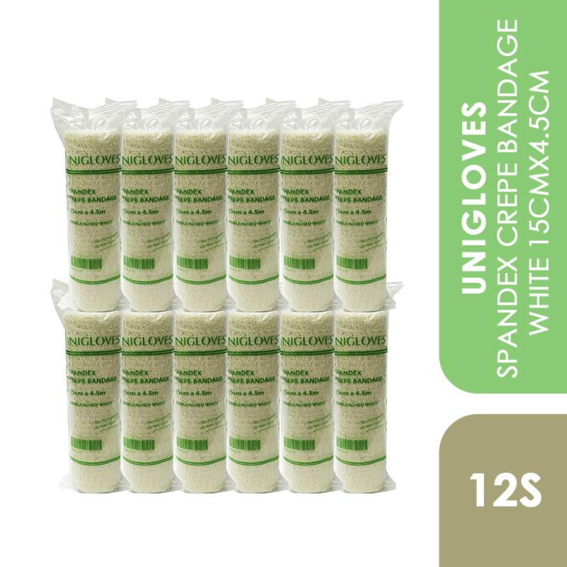 Unigloves Spandex Crepe Bandage White 15cmx4.5cm 12s