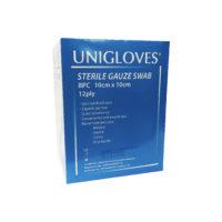 Unigloves Sterile Gauze Swab 10cmx10cm 5x12ply 25s