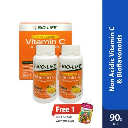 Bio-Life Non Acidic Vit.C & Bioflavonoids 2x90s
