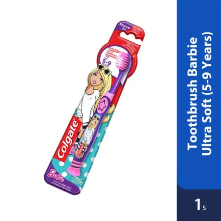 Colgate Toothbrush Barbie Ultra Soft 5-9 Years 1s