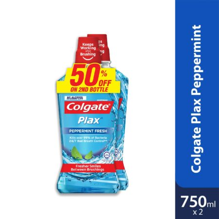Colgate Plax Peppermint 750ml 2s