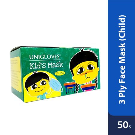 Unigloves 3 Ply Face Mask (child) 50's