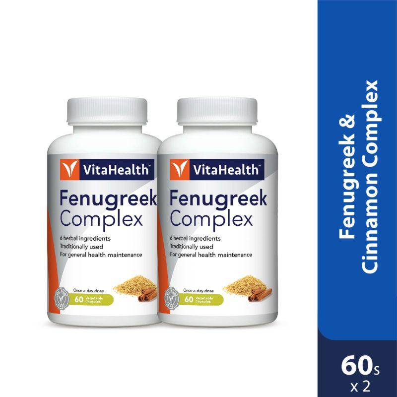 Vitahealth Fenugreek & Cinnamon Complex 2x60s