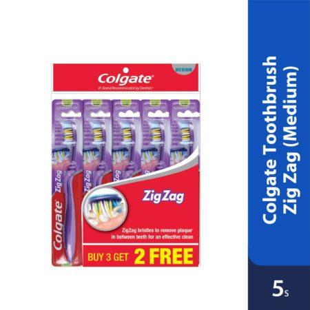 Colgate Toothbrush Zig Zag Medium 5s