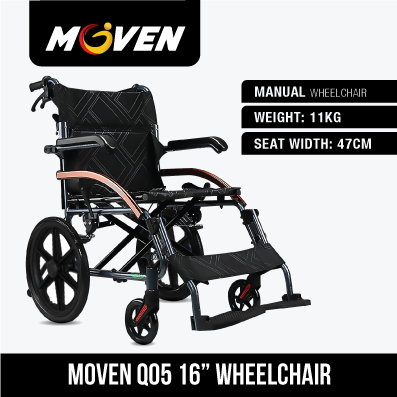 Moven lightweight wheelchairs maketransportation quick and easy.