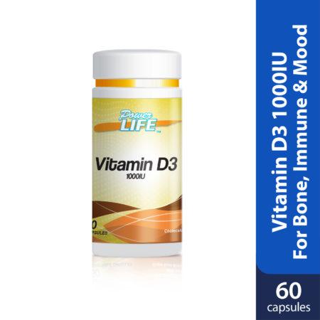 Powerlife Vitamin D3 1000IU 60s