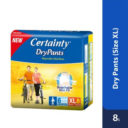 Certainty Drypants - Regular Pack (XL) 8s