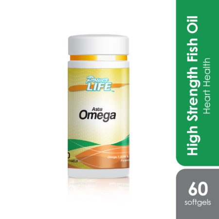 Powerlife Asta Omega is high omega-3 for healthy heart, good for diabetes, high cholesterol and high blood pressure.