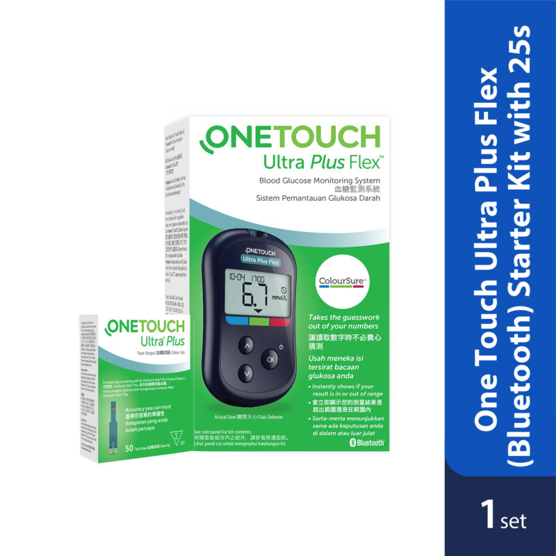 One Touch Ultra Plus Flex (bluetooth) Starter Kit With 25strips