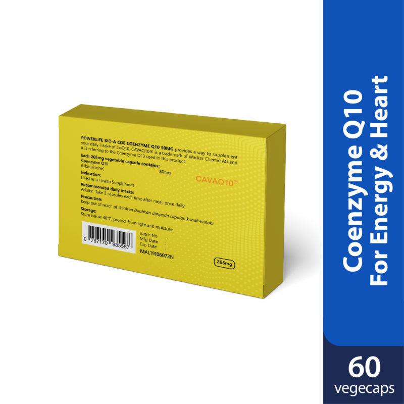 Powerlife Bio-A CDE Coenzyme Q10 50mg