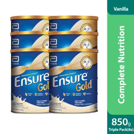 Triple Pack Abbott Ensure Gold Vanilla 2x850g