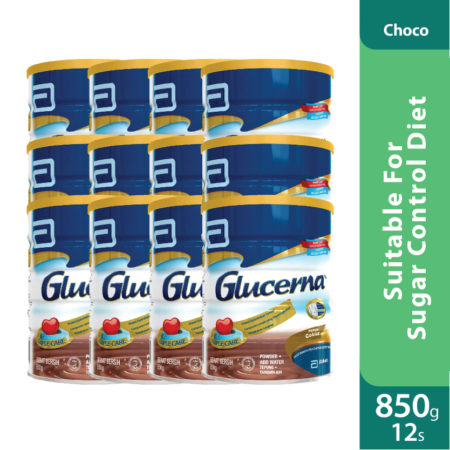 Promo Package 12 Tins - Abbott Glucerna Triple Care Choco 850g
