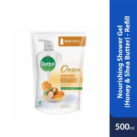 Dettol Onzen Nourishing Shower Gel (Honey & Shea Butter) Refill Pouch 500ml