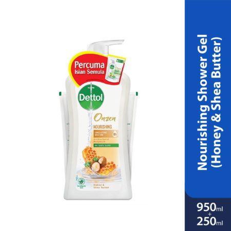 Dettol Onzen Nourishing Shower Gel (Honey & Shea Butter) 950ml + 250ml