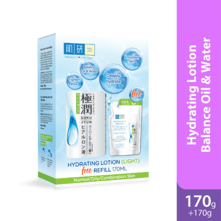 Hada Labo Hydrating Lotion (Light) 170ml Free Refill Pack 170ml