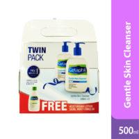 Cetaphil Gentle Skin Cleanser 500ml 2s Free Moist Lotion 200ml