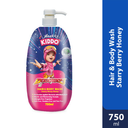 Anakku Kiddo Hair&body Wash Starry Berry Honey 750ml
