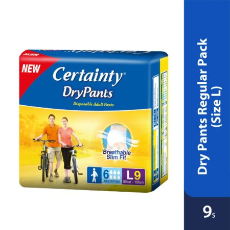 Certainty Drypants - Regular Pack (L) 9s