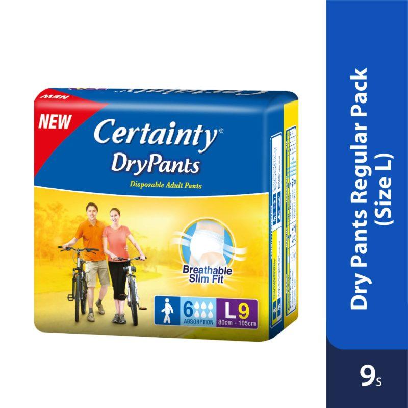 Certainty Drypants - Regular Pack (L) 9s