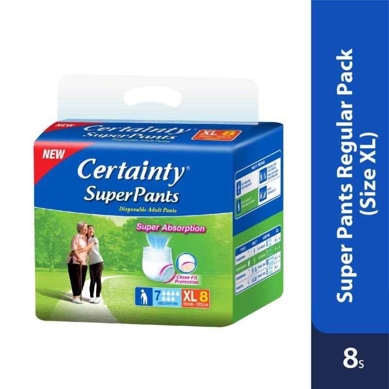 Certainty Superpants - Regular Pack (XL) 8s