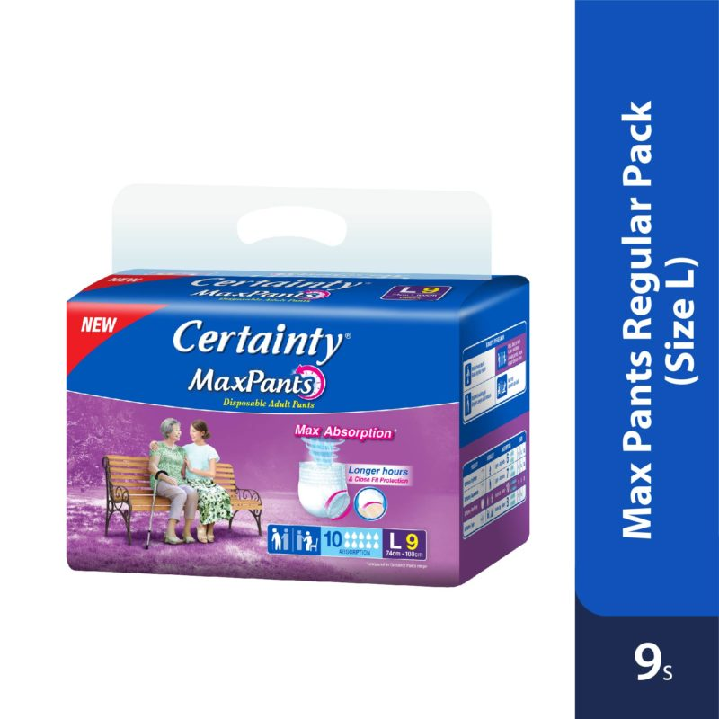 Certainty Maxpants - Regular Pack (L) 9s