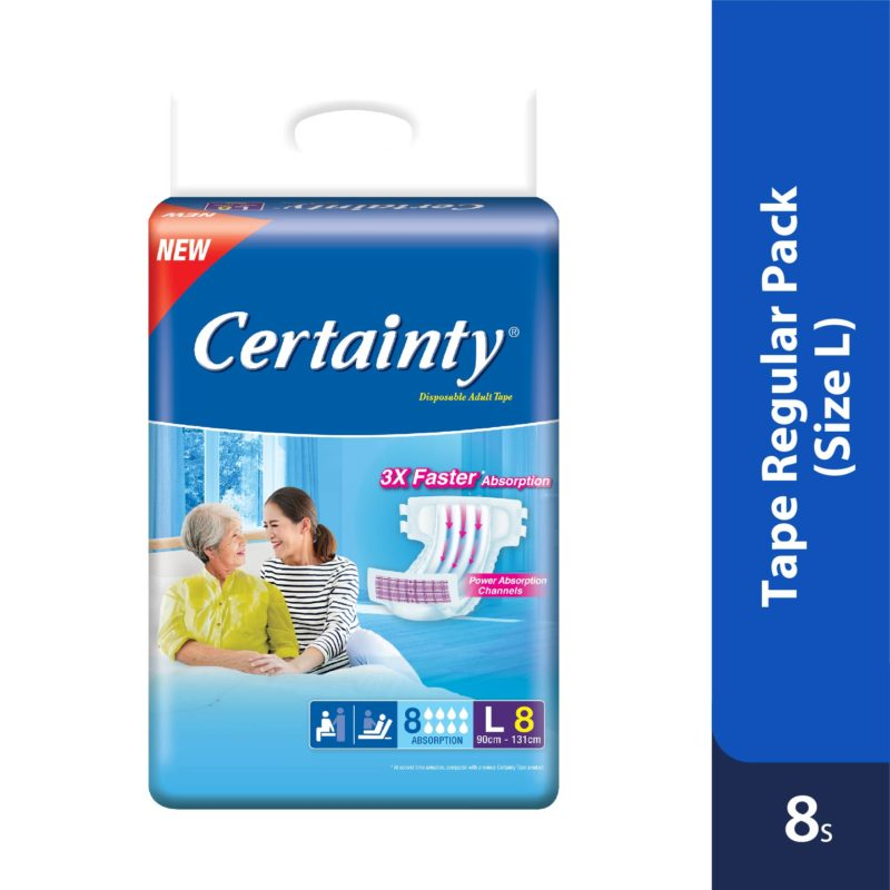 Certainty Tape - Regular Pack (L) 8s