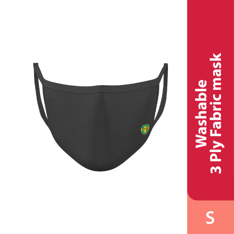 Offen 3 Ply Fabric Mask Size S 1s (Black)