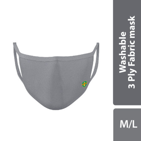 Offen 3 Ply Fabric Mask Size S 1s (grey)
