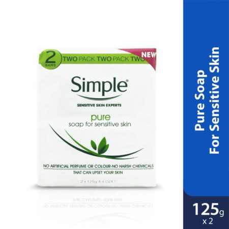 Simple Pure Soap Pack Of 2 Bars