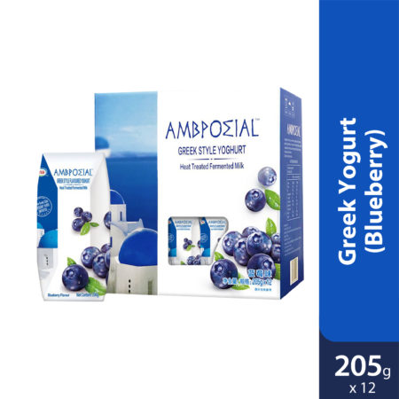 Anmuxi Greek Yogurt Blueberry 12x205g [expiry Date 31 Dec 2020]
