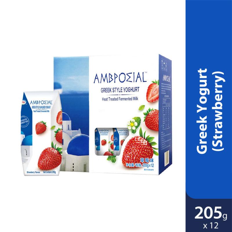 Anmuxi Greek Yogurt Strawberry 12x205g [expiry Date 1 Feb 2021]