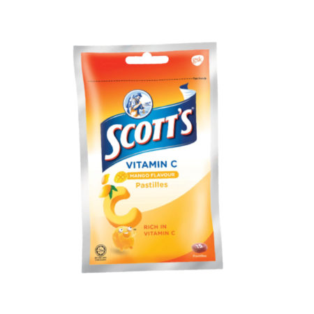 Scotts Vit.c Zipper Pack Mango 30g 1pack (15s)(12 Dec 2020)
