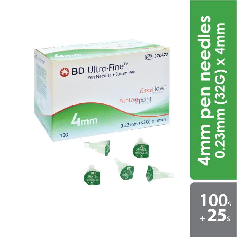 Bd Ultra-fine Pen Needles 32g 0.23x4mm 100s