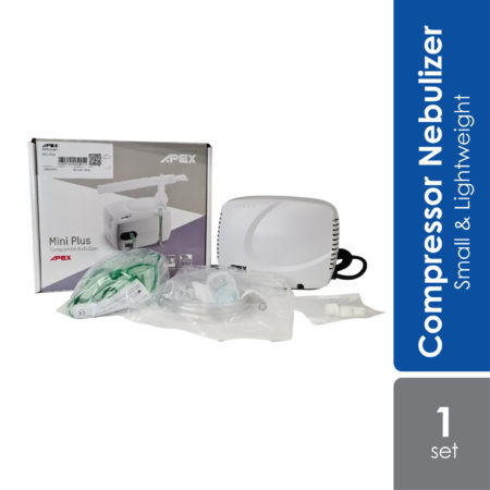 Apex Compressor Nebulizer Mini-Plus is a small, lightweight and easy to use compressor nebulizer, especially designed for people on the move.
