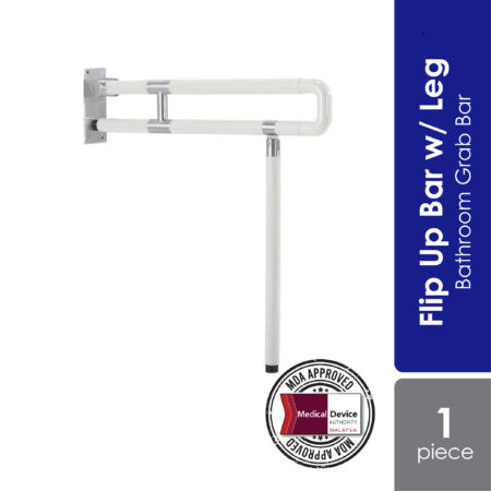 Reli-able flip up bar is a high durable and foldable design bathroom grab bar.