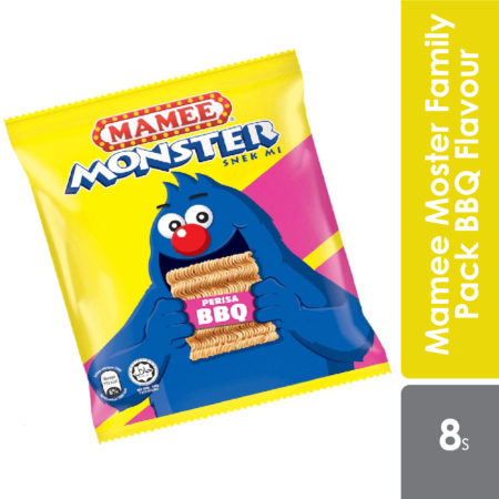 Mamee Monster Family Pack Bbq Flavors 25g 8s