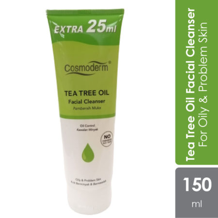Cosmoderm Tea Tree Facial Cleanser 125ml Free 25ml
