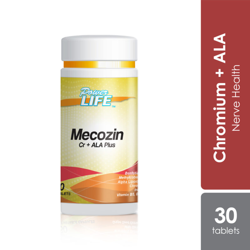 Powerlife Mecozin Cr + ALA Plus helps to repair and support healthy nerve. It helps to reduce numbness and nerve pain.